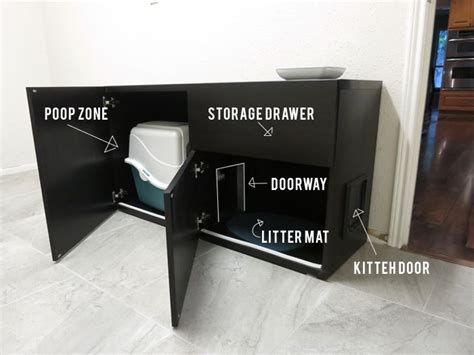 diy litter box cabinet diy cat box cabinet evanandkatelyn saw wood hammer pintere