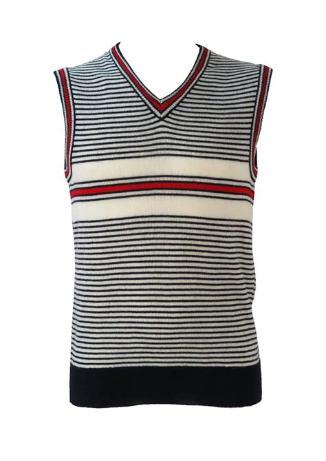 v neck striped tank top in navy and white s m