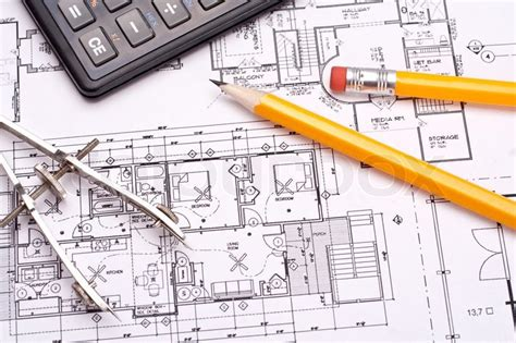 How To Get Floor Plans For My House engineering and architecture drawings with pencil stock