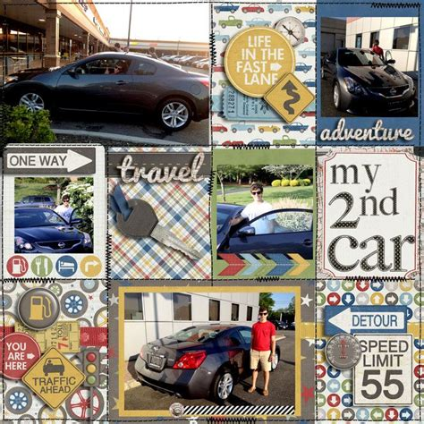 scrapbook layout new car 1000 images about scrapbooking classic cars on pinterest