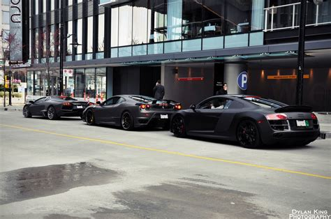 Lamborghini Death by Death Row With A Murdered Out Lambo Ferrari And R8 Toys
