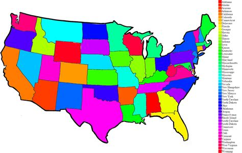 usa map color map of united states color frtka