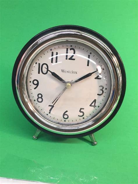 westclox quartz alarm clock battery powered used ebay
