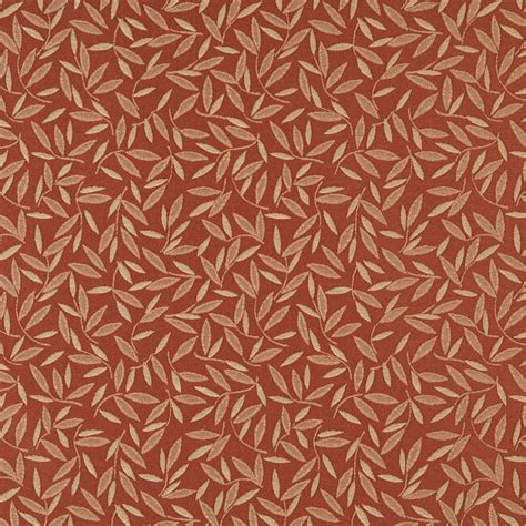 leaf upholstery fabric rust red floral leaf contract grade upholstery fabric by
