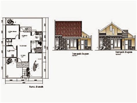 contoh gambar denah rumah minimalis terbaru  rumah minimalis