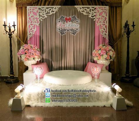 Karpet Bulu Pink mini pelamin sweet pink grey dengan fluffy karpet bulu