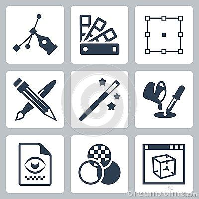 graphic design icon definition vector graphic design icons set stock image image 38523101