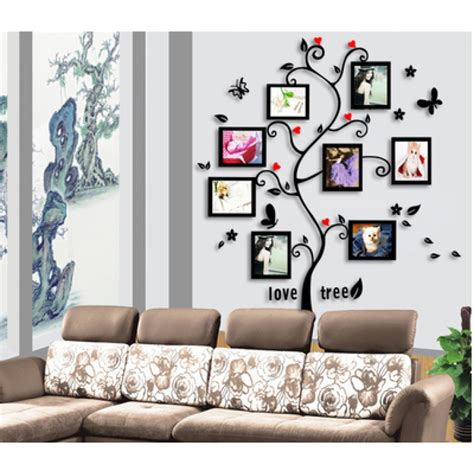 living room wall decals living room tree photo frames wall decal sticker wackydot