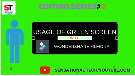 wondershare filmora green screen tutorial usage of green screen in wondershare filmora removing