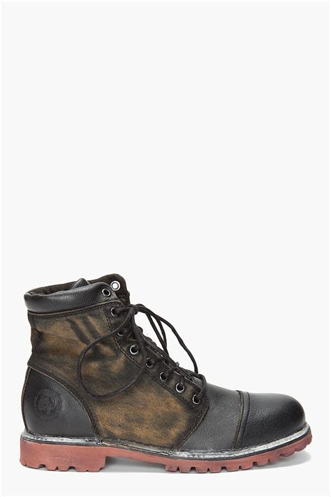 s diesel sneakers diesel hill boots in black for lyst