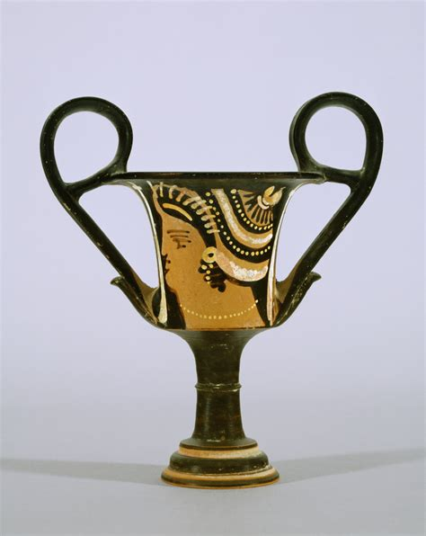 Small Red Vases File Greek Red Figure Kantharos Drinking Vessel With