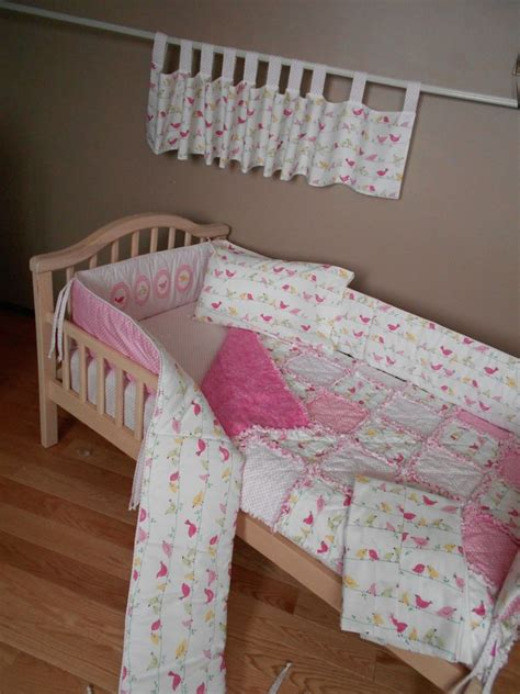 bird crib bedding baby pink penelope bird fabric from pottery barn crib