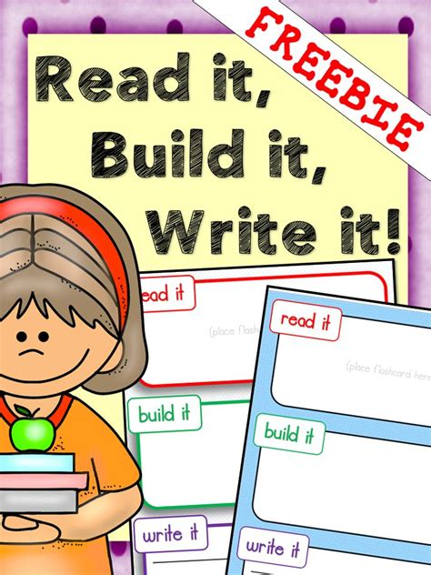 read free free read it build it write it mats can be used for any