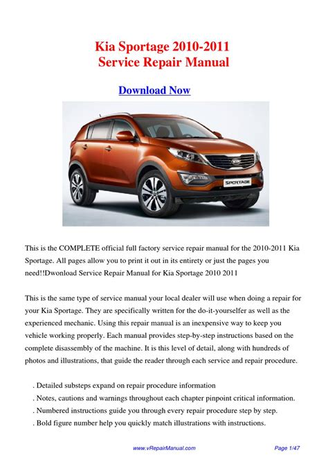 how to download repair manuals 2010 kia sportage seat position control download kia sportage 2010 2011 factory repair manual by huang kung issuu