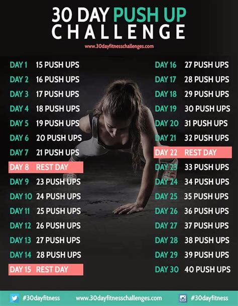 30 day push up and sit up challenge more stuff 30 day fitness challenges