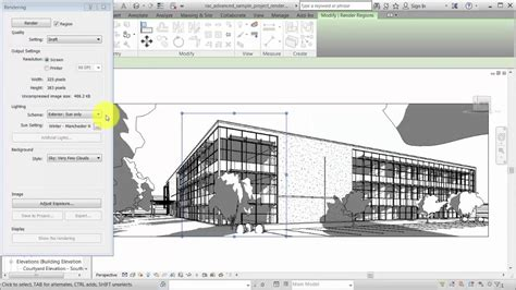 Revit 2017 new in revit 2017 rendering a view with sunlight youtube