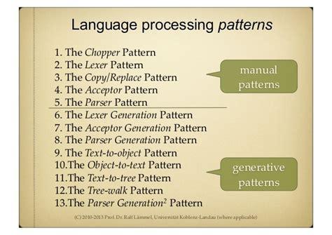 template parser generator generative programming mostly parser generation