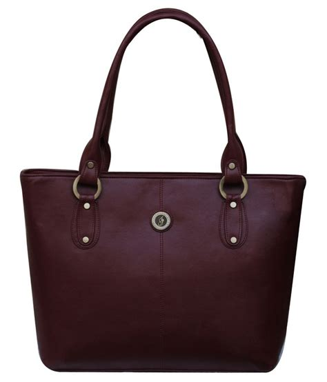 Maroon Totebag by Fostelo Maroon Tote Bag Buy Fostelo Maroon Tote Bag