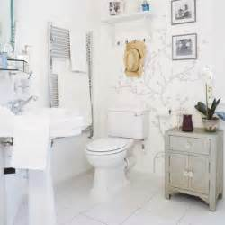 Small White Bathroom Decorating Ideas - large bathroom cherry blossom wall sticker home interior