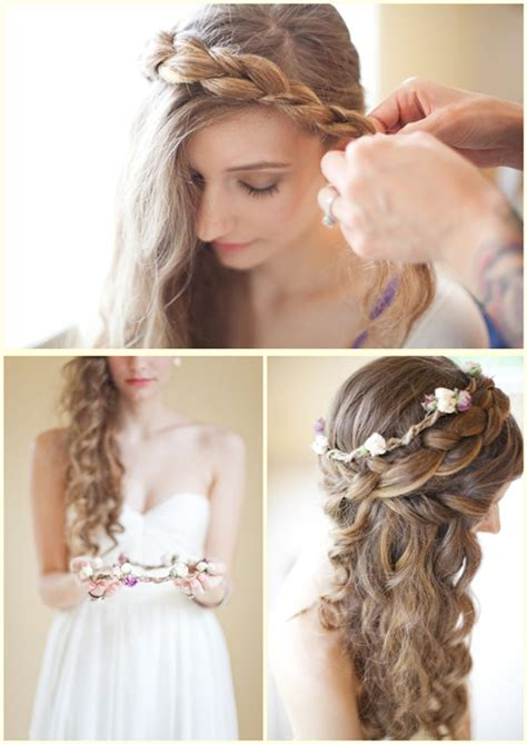 hairstyles with clip on hair extensions romantic hairstyle with flower archives vpfashion vpfashion