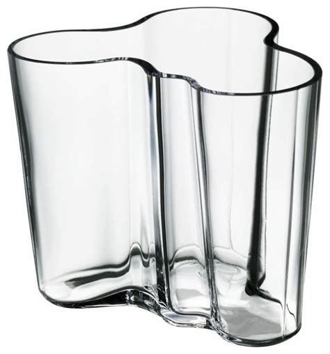 aalto vase clear modern vases los angeles by fitzsu