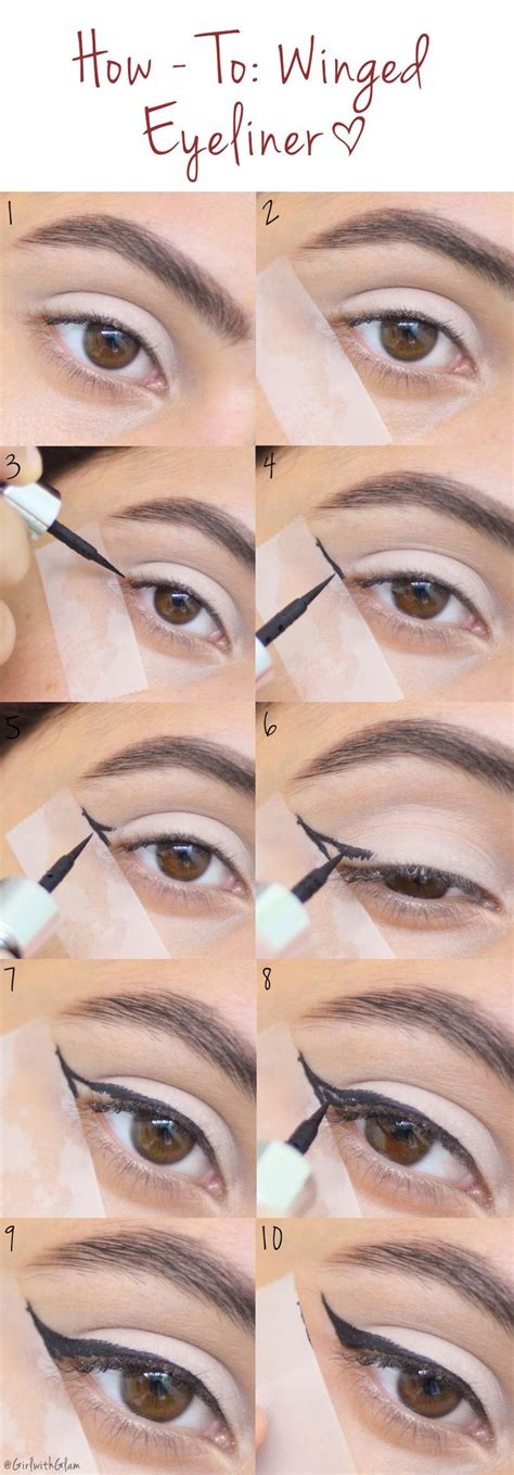 Tutorial Eye Liner 25 best ideas about winged eyeliner tutorial on