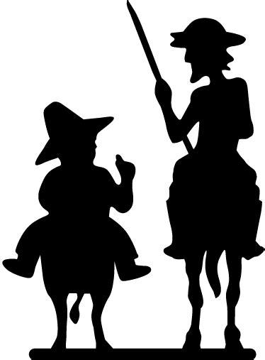 Vinilo Quijote y Sancho Panza | Quijote de la mancha, Don