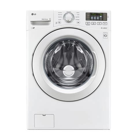 front load washer fan lg electronics 4 5 cu ft front load washer in white