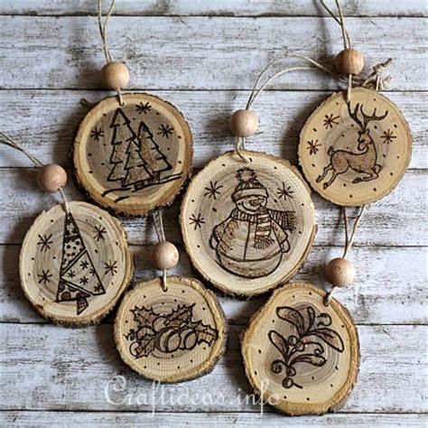 Wooden Ornament diy ornaments 35 felt wood paper