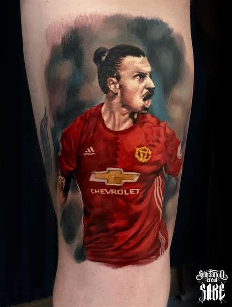 ibrahimovic tattoo celebration fresh realistic color ibrahimovic portrait tattoo from