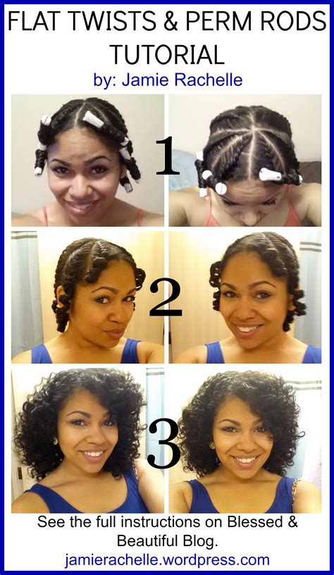 easy care permed hairstyles flat twists perm rods tutorial jamie rachelle com
