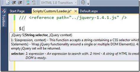 how does layout cshtml work vs2010 tips 7 how to make jquery intellisense work for