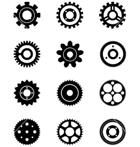 cogs and gears vector by tsalis image 760344 vectorstock