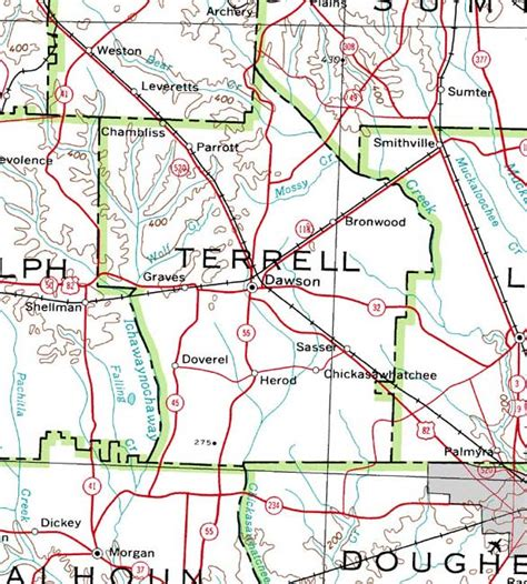 terrell texas map terrell county gagenweb