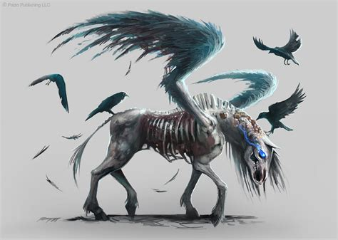 pathfinder pegasus zombie by telthona on deviantart