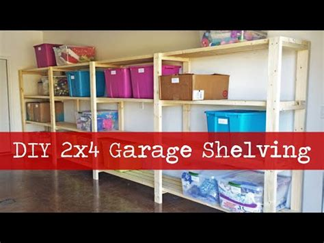 diy garage shelving youtube