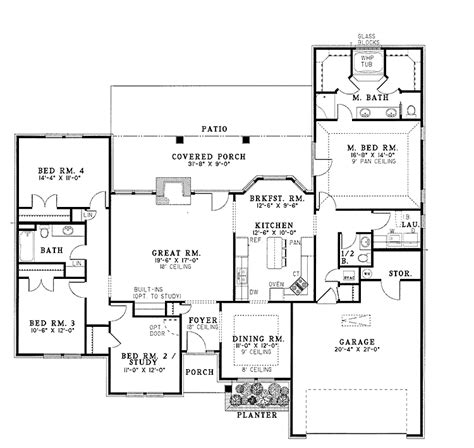 family home floor plans for the modern family hwbdo12296 ranch house plan from builderhouseplans