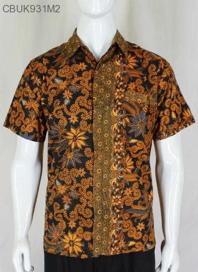 Kemeja M2 baju batik kemeja motif mataraman bunga kemeja lengan pendek murah batikunik