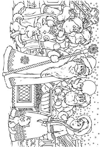 movable santa coloring page free christmas coloring pages