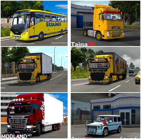 mod game euro truck mods packs by taina95 for game v1 25 mod for ets 2