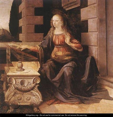 2 Paintings Of Leonardo Da Vinci by Annunciation Detail 2 1472 75 Leonardo Da Vinci