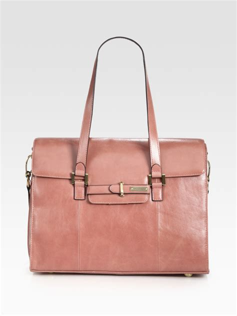 Helena Bag storksak helena leather baby bag in pink lyst