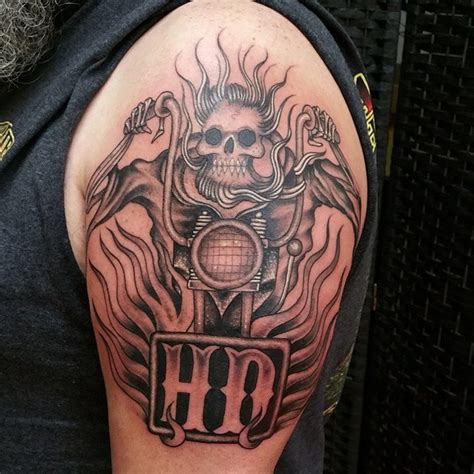 harley tattoos 25 awesome skeleton tattoos