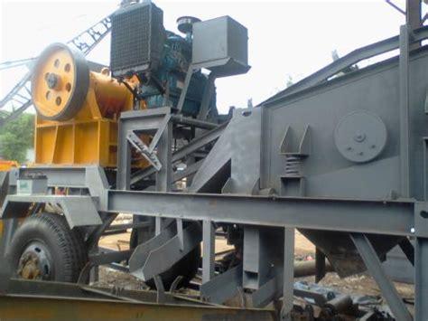 Mesin Pemecah Batu Mobil Portable jual mesin pemecah batu crusher mobile jakarta