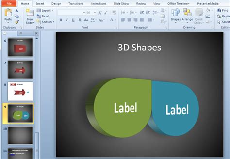 3d Shapes In Powerpoint Free Powerpoint Shapes