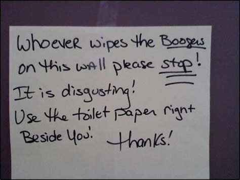 Funny Bathroom Writing The Bathroom Stall Booger Epidemic