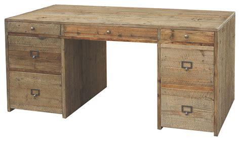 Hughes Salvaged Wood Desk   Contemporary   Desks And