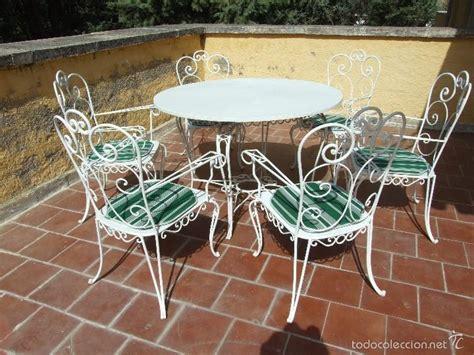 muebles jardin forja conjunto de mesa y sillas de forja para jard 237 n comprar