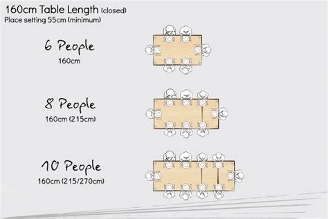 6 Seat Dining Table Dimensions What Size Table Do You Need To Seat 10 Designer Tables Reference