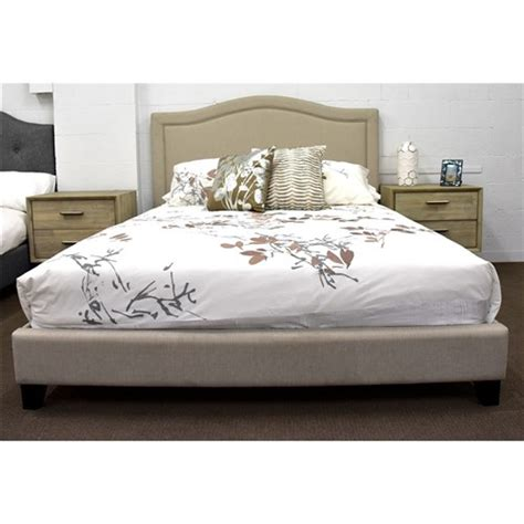 hilton bed hilton double bed upholster fa lyndtt light beige 6086 1